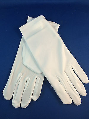 Short white gloves pair fancy dress michael jackson look butler glove waiter New