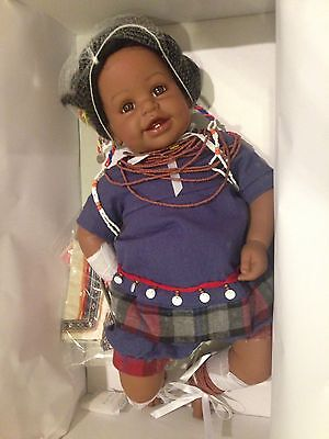 "NEW Marie Osmond Charisma Adora 22"" Weighted Vinyl Delila Kenya Baby Doll NIB"