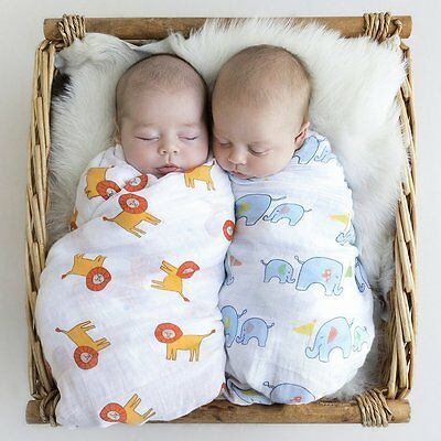 Muslin Swaddle Blanket Organic Cotton Baby Receiving Blanket Gift Set - 3 Pack -