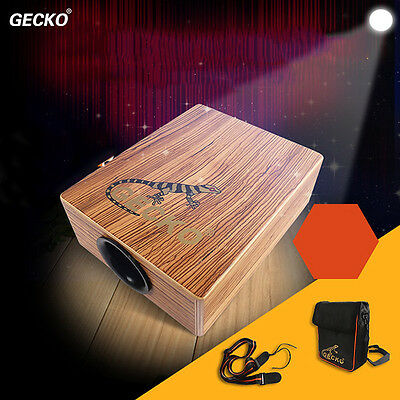 GECKO Traveling Cajon Drum Boxing Percussion With Braces Bag HOT