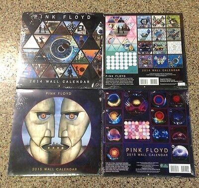 Pink Floyd Calendar Lot Of 2  From 2014 & 2015