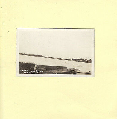 IA Lenox 1938 rppc real photo postcard NORTH LAKE SHORE to Detroit Michigan