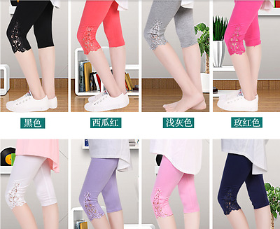 Summer Fashion Maternity Lace Leggings Pregnant Women Abdominal short pant ZMH8