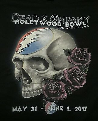 Dead and Company Hollywood Bowl skull and roses Lot shirt 2Xlg