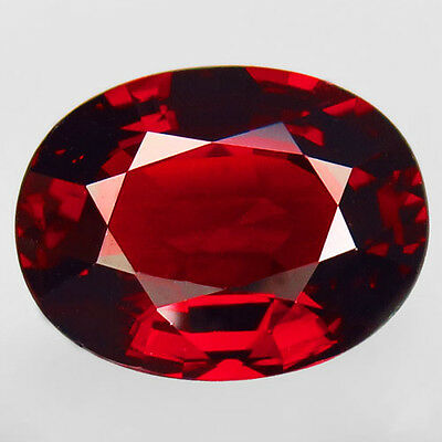 6.62ct.RESPLENDENT! 100%NATURAL TOP RED SPESSARTITE GARNET UNHEATED AAA BIG!