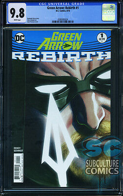 Green Arrow Rebirth #1 - First Print - Cgc 9.8 - Sold Out - Dc Comics Relaunch