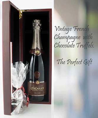 French Champagne Vintage Mailly 2006 Haigh Chocolate Truffles Gift Pack