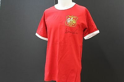 Denis Law Wembley 1963 Manchester United Hand Signed Football Shirt