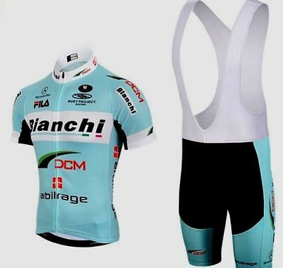 Completo ciclismo estivo Cycling Jersey and pants 2017 Team cyan