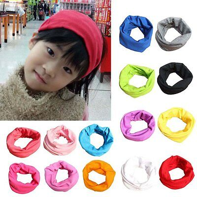 Kids Baby Boys Girls Warm Scarf Cotton Neck Shawl Neckerchief Toddler Scarves UK