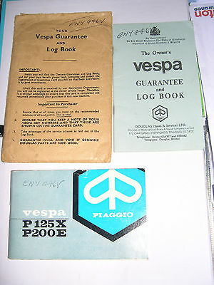 Vespa P200 Service Books and Manual