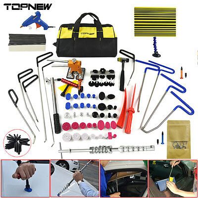 10X PDR Rods Paintless Dent Repair Tools Line Board Dent Lifter Hail Removal Kit
