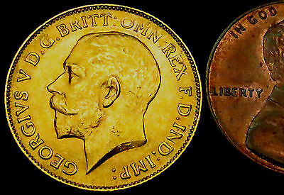 S849: 1912 High Grade (EF or better) Gold Half Sovereign - year the TITANIC sank