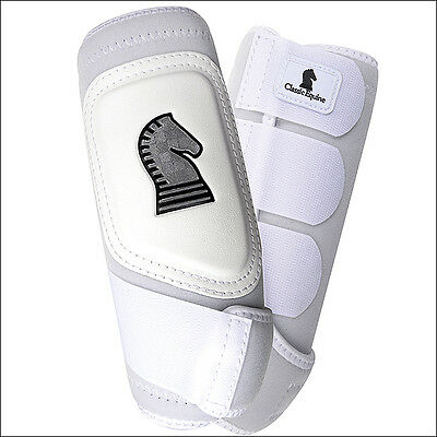Small Classic Equine Crossfit Neoprene Horse Front Leg Boots Pair White