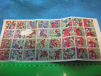 "Sheet of 32 Original 1950s Donald Duck ""tattoos""...Disney  children's transfers."