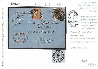 DBR04c 1868 GB REGISTERED Manchester Experimental London DOUBLE CDS Cover Ostend