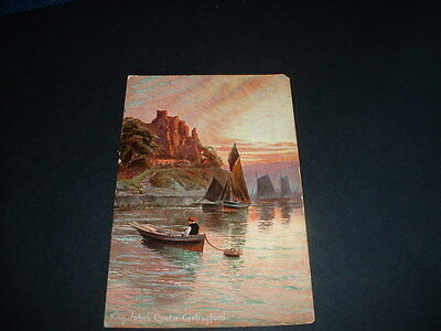 IRELAND  VINTAGE POSTCARD KING, JOHN,S CASTLE CARLINGFORD Co LOUTH  POSTED