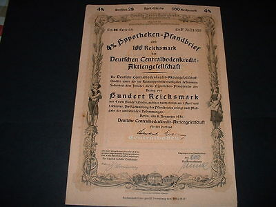 Gremany /berlin 6/11/41 100 ,,reichmarks War Bond  With Embossed  State Seal