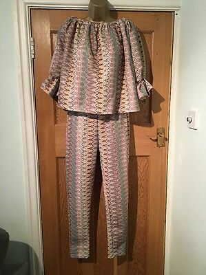 BNWT Layers Paris Two Piece Suit Trousers & Top Size S/M Stunning