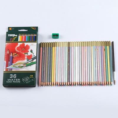 36 Colours Artists Coloured Colouring Pencils Water Soluble Professional Set