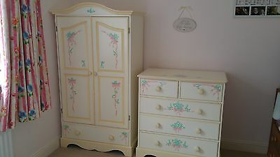 Children's/Girl's Furniture, Wardrobe & Chest of Drawers, Hand-painted, Bedroom