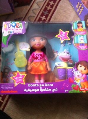 "Dora The Explorer Arabic/English Singing 11"" Doll With Boots (Monkey).Boxed"