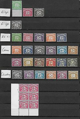 1912/60 Gb Postage Dues Excellent Selection Of 33 Different  Mnh/lmm