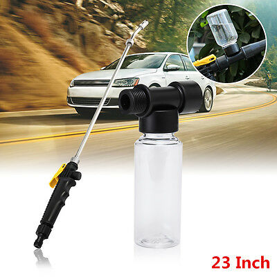 23'' High Pressure Power Washer Spray Nozzle Home Water Gun With Bubble Pot 60ml