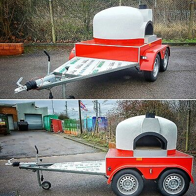 @ New design - Side oven entrance @ MOBILE WOOD FIRED PIZZA OVEN * FORNO TRAILER
