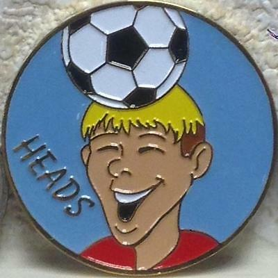 Soccer Official Referee Challenge Flipping Coin Head & Butt Edition Solid Metal