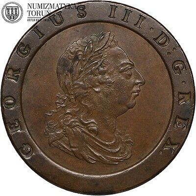 Great Britain, two pence, 1797, XF/AU