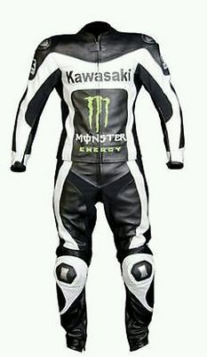 KAWASAKI Monster Motorcycle Leather Suit Riding Suit Motorbike Leather Suit