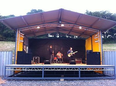 7.5m x 7m Outdoor Stage with Lighting Rig and Skirts