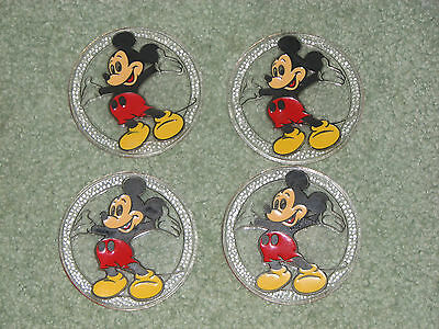 Vintage Mickey Mouse coasters - set of 4 - made in USA - Disney collectibles