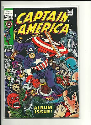 CAPTAIN AMERICA #112  7.5 to 8.0 1969 MARVEL, Jack Kirby art Iron Man appearance