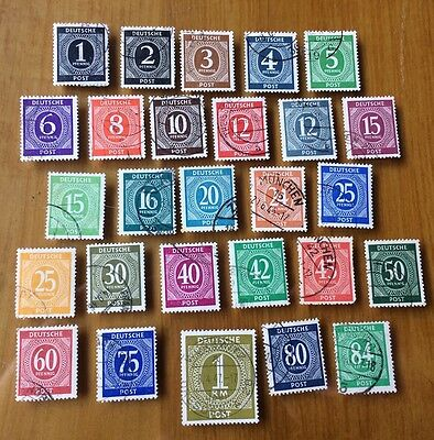 EBS Germany 1946 Allied Occupation Numerals set Michel 911-937 U (1) cv $135