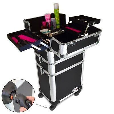 Gorilla Pro Mobile Cosmetic Beauty Makeup Hairdresser 3-in-1 Trolley Case