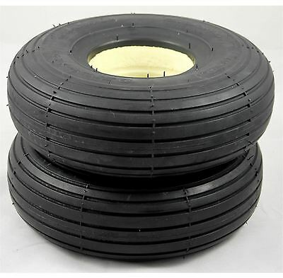 1 Pair of Solid Rib Tread 300x4 3.00-4 (260x85) Black Mobility Scooter Tyres