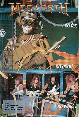 Megadeth So Far, So Good, So What ! 1987 Vintage Music Record Store Promo Poster
