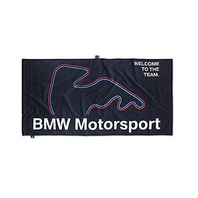 BMW New Genuine M Motorsport Beach Bath Gym Towel (Team Blue) 80232285872