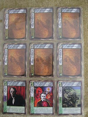 Complete set CTHULHU RISING MYTHOS CCG, 67 CARDS, LOVECRAFT