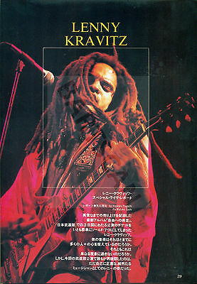 Lenny Kravitz - Clippings From Japanese Magazine Music Life 1993 - 1994