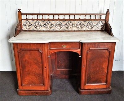 Antique Victorian marble top washstand - dressing table