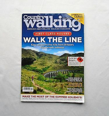 Country Walking Magazine 2014 August First Class Routes Walk The Line - Wales