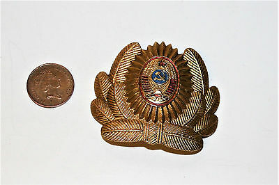 Vintage Russian Soviet Army Cap Hat Badge Mid Century Military Insignia