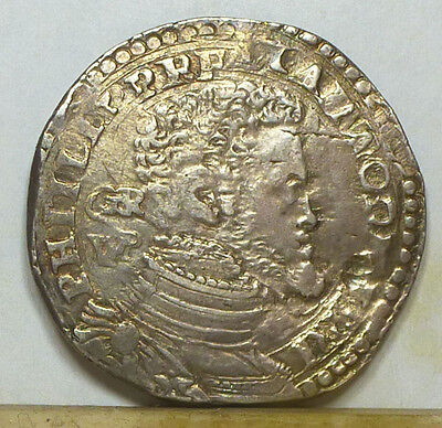 Italy Naples & Sicily 1/2 Ducaton ND (1556-1598) Very Fine