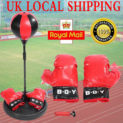 Poweful Adjustable Standing Punch Ball Kids Punching Speedball Bag MMA SET
