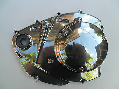 Suzuki GT750 All models polished clutch casing and adjustment cover
