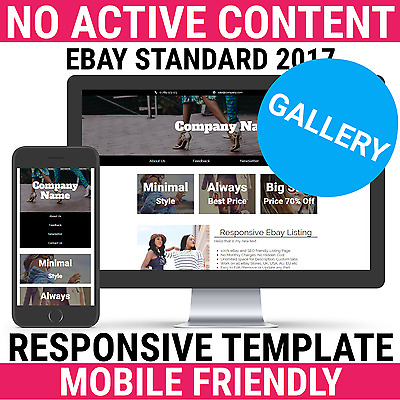 eBay Listing Template HTML Professional Mobile Responsive Design 2017 Gallery