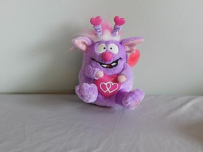 LOVE MONSTER NWT  Purple And Pink Goofy Loveable Valentines Birthday